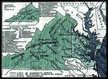 Gallery For Gt Powhatan Tribe Map